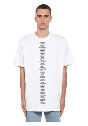 Translation Logo Printed Cotton T-shirt