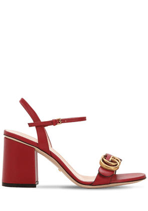 75mm Marmont Leather Sandals