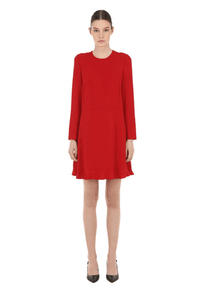 Viscose Crepe Mini Dress W/ Bow
