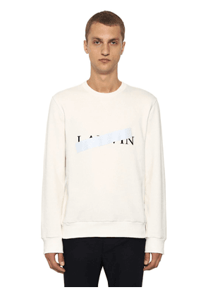 Censored Logo Printed Cotton Sweatshirt