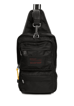 Nylon Crossbody Bag W/ Logo Patch