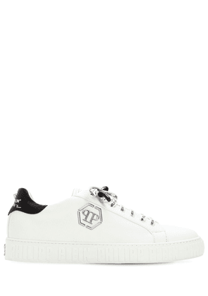 Logo Low Leather Sneakers