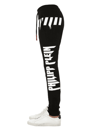 Printed Skull Cotton Jersey Sweatpants