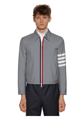 Striped Woven Tech Jacket