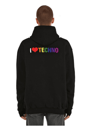 I Love Techno Embroidered Sweatshirt