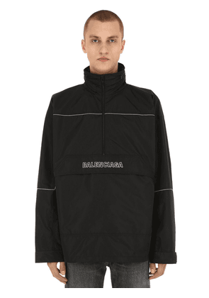 Logo Embroidered Ripstop Anorak