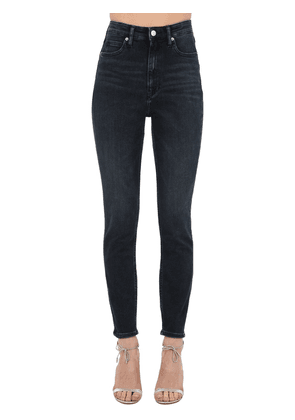 High Rise Skinny Cotton Denim Jeans