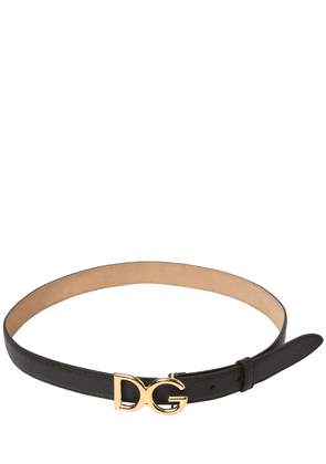 25mm Dg Logo Dauphine Leather Belt