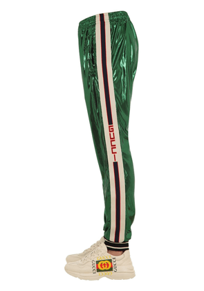 Oversized Jersey Pants W/logo Side Bands