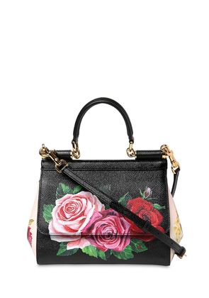 Small Sicily Floral Printed Leather Bag