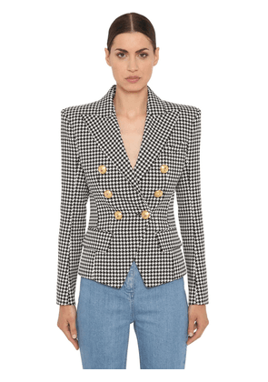 Double Breasted Cotton Twill Jacket