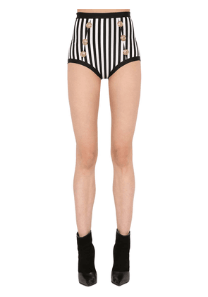Striped Lycra Stretch Bikini Bottoms