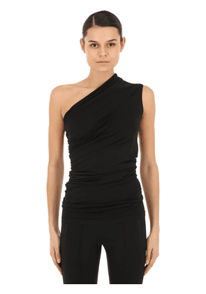 One Shoulder Cotton Jersey Top