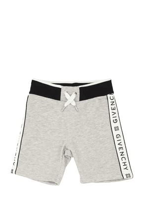 Logo Printed Cotton Shorts