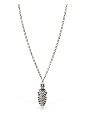 Skull & Feather Silver Necklace