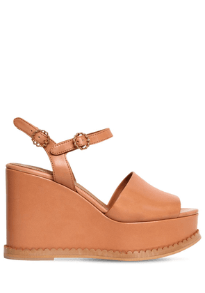110mm Carrie Leather Wedges