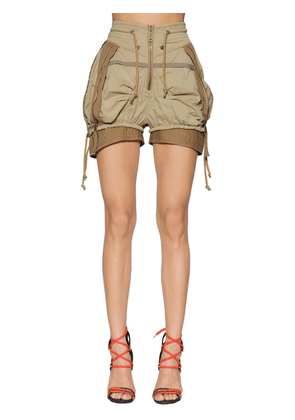 Stretch Cotton Twill Military Shorts