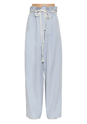 Oversized Cotton Flared Pants