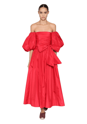 Off-the-shoulder Micro Faille Dress