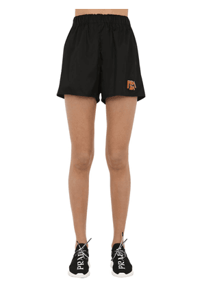 Logo Patch Nylon Shorts
