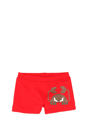 Crab Print Lycra Swim Shorts