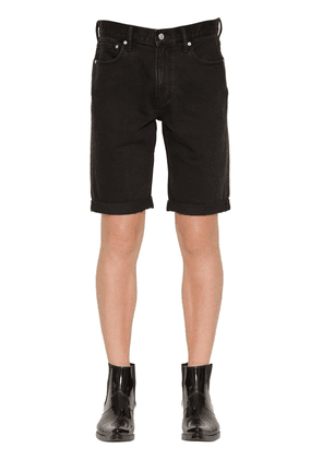 Slim Fit Logo Embroidered Denim Shorts