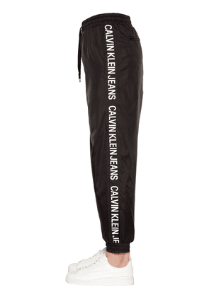 Logo Tape Nylon Track Pants