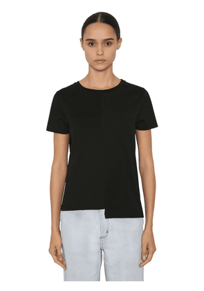 Asymmetric Cotton Jersey T-shirt