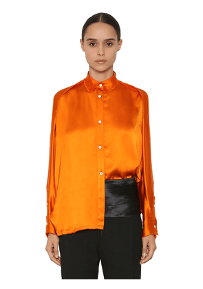 Oversize Viscose Satin Shirt