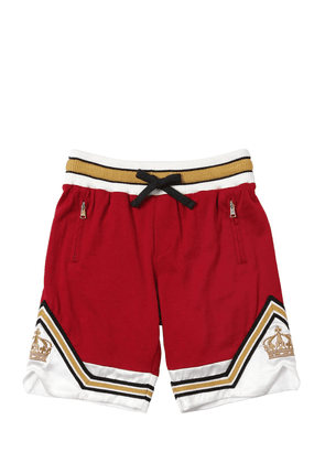 Cotton Jersey Shorts W/ Crown Patches