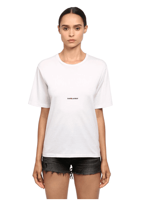 Loose Logo Print Cotton Jersey T-shirt
