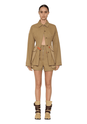 Cotton Canvas Safari Jacket