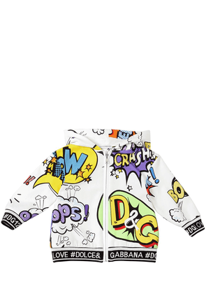 Cartoon Print Cotton Sweatshirt Hoodie