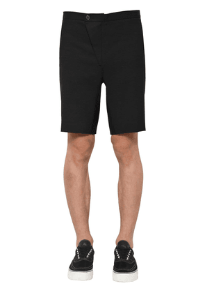 Slim Fit Wool Blend Shorts