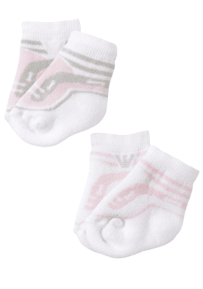 2 Pairs Of Cotton Knit Socks