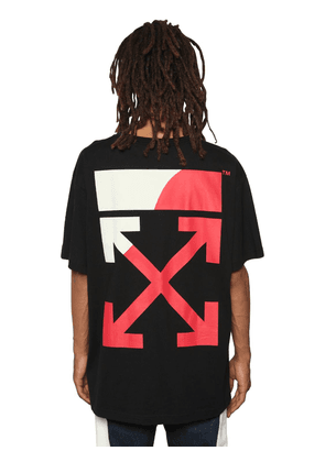 Oversized Fit Printed Jersey T-shirt