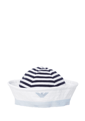 Striped Cotton Jersey Hat