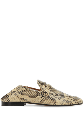 10mm Fezzy Python Printed Penny Loafers