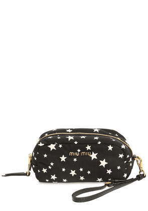 Star Printed Nylon Cosmetic Case