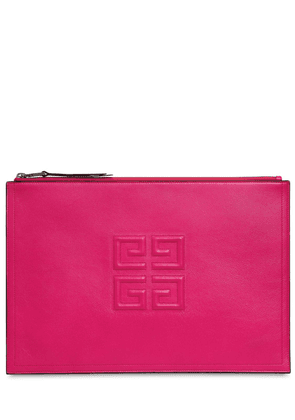 Large 4g Logo Leather Pouch