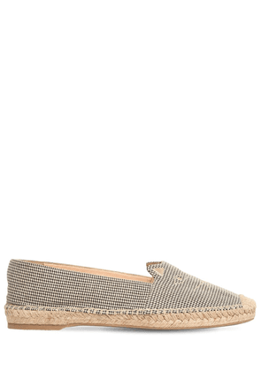 10mm Kitty Cotton Gingham Espadrilles