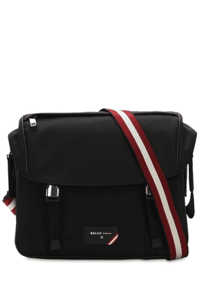 Logo Stripe Nylon Messenger Bag