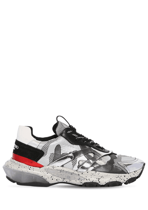 Bounce Mesh & Leather Sneakers