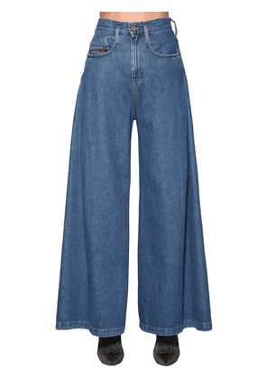 Izzier High Rise Wide Leg Denim Jeans