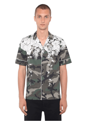 Hawaii Print Cotton Poplin Bowling Shirt