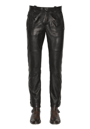Telford Smooth Leather Biker Pants