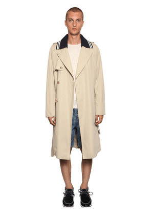 Lightweight Trench Coat W/ Rib Collar