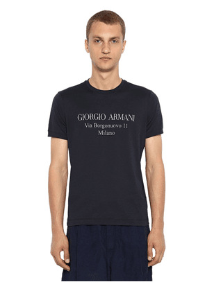 Address Logo Cotton Jersey T-shirt