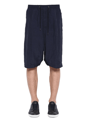 Viscose & Linen Shorts W/ Drawstring