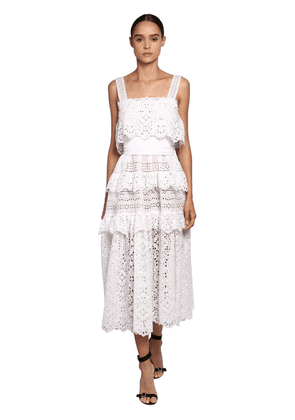 Cotton Lace & Poplin Long Dress
